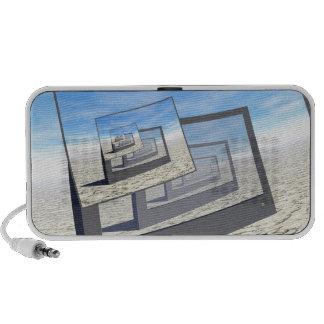 Surreal Monitors Infinite Loop Travelling Speakers