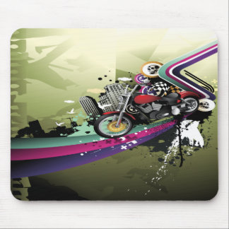 Surreal Motorbike, Skulls & City Mouse Mat