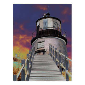Surreal Owls Head Lighthouse Post Cards