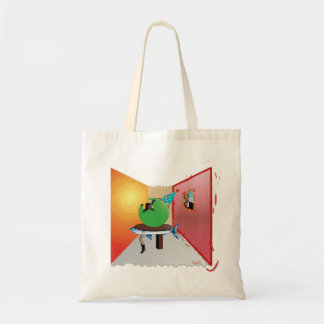 Surreal Party - Colorful, Weird and Artistic Budget Tote Bag