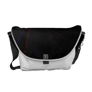 Surreal Purple Fractal Vortex Messenger Bags