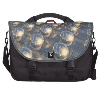 Surreal Reflecting 3D Metal Spheres Computer Bag