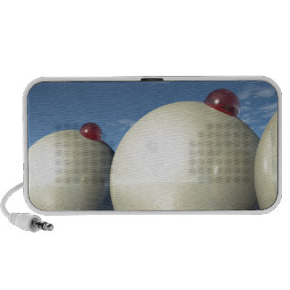 Surreal Spheres Structure Travel Speakers