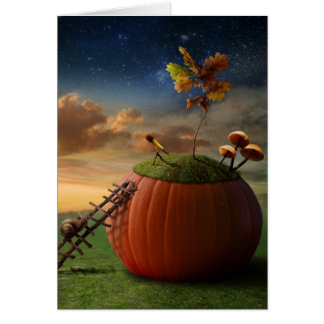 Surreal Stargazer Snail Greeting Card