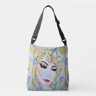 Surreal Swedish girl - watercolor painting Crossbody Bag