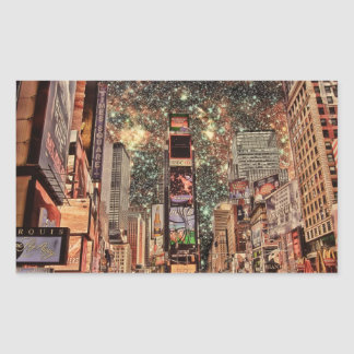 Surreal Times Square Rectangular Sticker