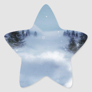 Surreal Winter Star Sticker