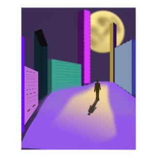surrealistic-155227  surrealistic dream city night 11.5 cm x 14 cm flyer