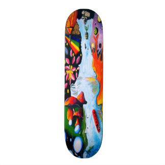 Surrealistic Dali Style Mushroom Wonderland 21.6 Cm Skateboard Deck