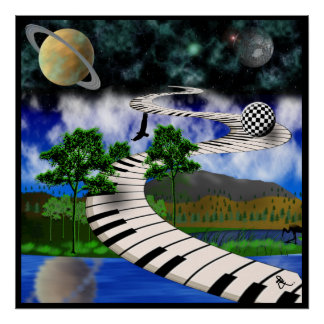Surrealistic Keyboard Poster