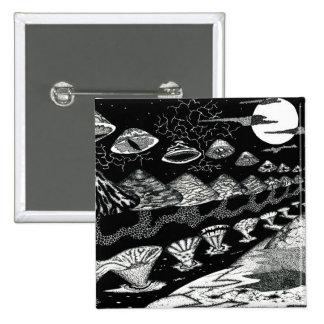 Surrealistic Mushroom 15 Cm Square Badge