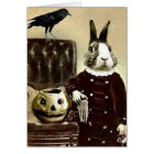 Surrealistic Vintage Art Halloween Greeting card