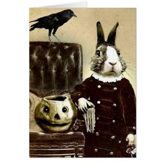 Surrealistic Vintage Art Halloween Greeting card