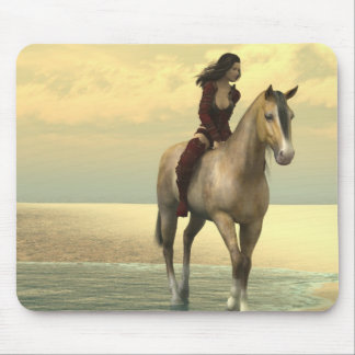 Surreality - Girl on a Horse Mouse Mat