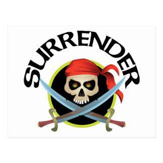 Surrender 3D Skull Postcards