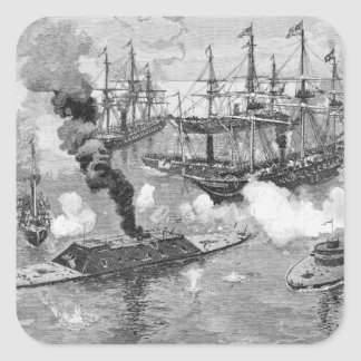 Surrender of the 'Tennessee', Battle of Mobile Square Sticker
