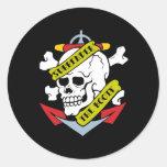 Surrender the Booty Skull Round Sticker