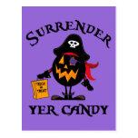 Surrender Yer Candy Postcard