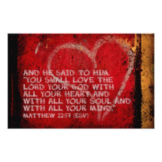 Surrendering All Matthew 22:37 Scripture Photo Art 14 Cm X 21.5 Cm Flyer