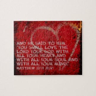 Surrendering All Matthew 22:37 Scripture Photo Art Jigsaw Puzzle