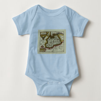 Surrey County Map, England Tshirt