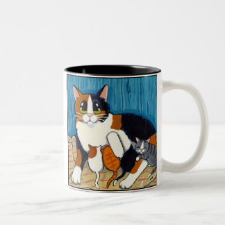 Surrogate Mum | Cat and Kittens Art Mug