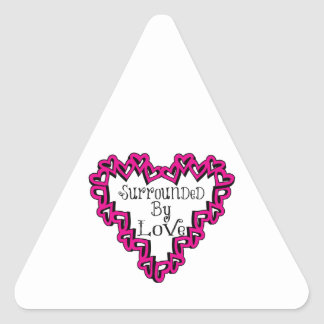 Surronded By Love Triangle Sticker