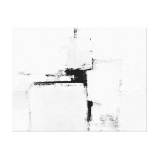 'Surround' Black and White Abstract Art Canvas Print
