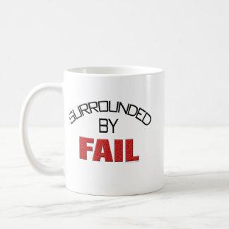 Surrounded By Fail Basic White Mug