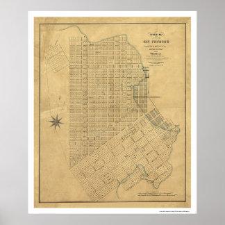 Survey of San Francisco by Michelin 1849 Print