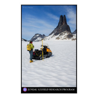 Surveying near Michael's Sword -- Juneau Icefield Poster