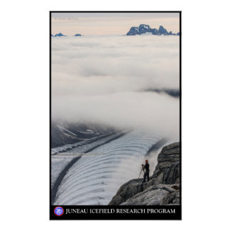 Surveying near the Gilkey Trench - Juneau Icefield Poster
