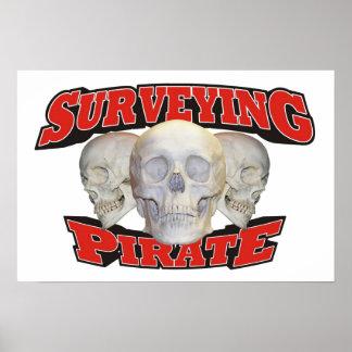 Surveying Pirate Print