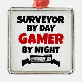 Surveyor by Day Gamer by Night Christmas Ornament