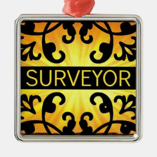 Surveyor Damask Christmas Ornament
