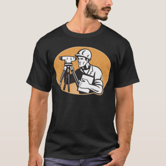 Surveyor Engineer Theodolite Total Station T-Shirt