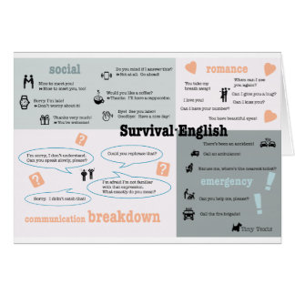 Survival English Greeting Card