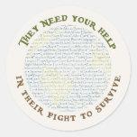 Survival/Help Classic Round Sticker
