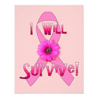 Survive Breast Cancer Custom Announcement