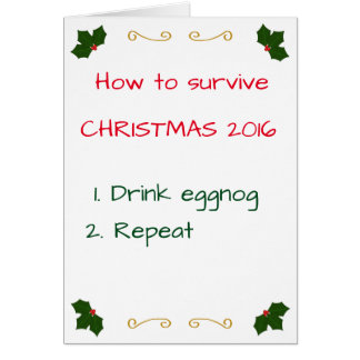Survive Christmas Greeting Card