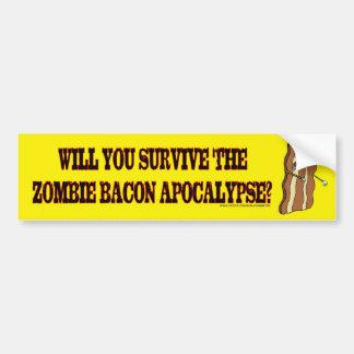Survive the Zombie Bacon Apocalypse bumper sticker