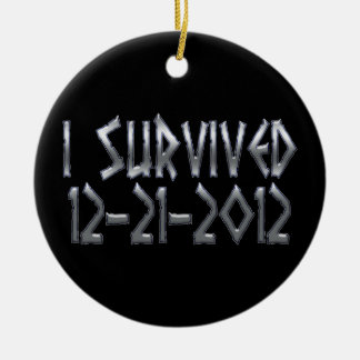 Survived 2012 round ceramic decoration