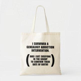 Survived Genealogy Addiction Intervention Tote Bag