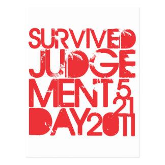 Survived Judgement Day 2011 Postcard