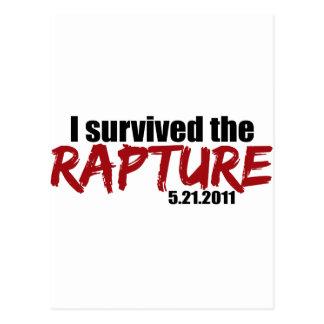 Survived the Rapture Postcard