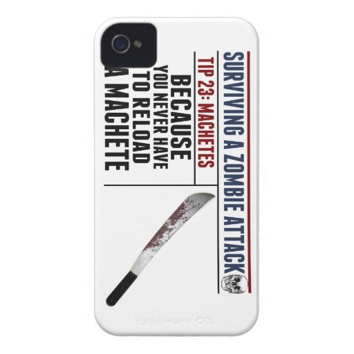 SURVIVING A ZOMBIE ATTACK iPhone 4/4s Case iPhone 4 Cases