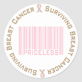 Surviving Breast Cancer Priceless Round Sticker