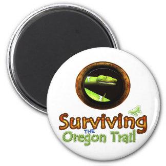 Surviving the Oregon Trail 6 Cm Round Magnet