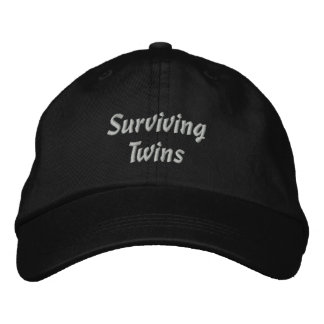 Surviving Twins Embroidered Hats
