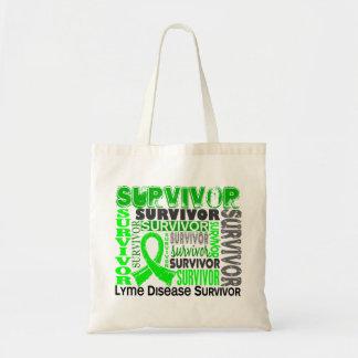 Survivor 10 Lyme Disease Budget Tote Bag